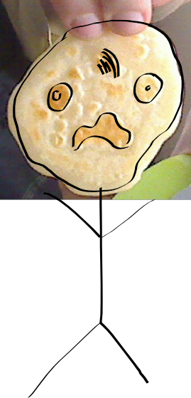 A face in a pancake.